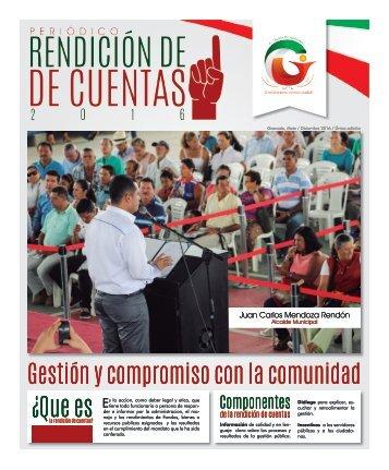 Revista Institucional Edición 5 - Periódico Rendición de Cuentas 2016