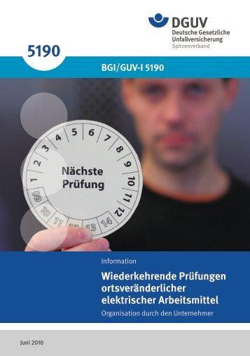BGI/GUV-I 5190 - Unfallkasse NRW