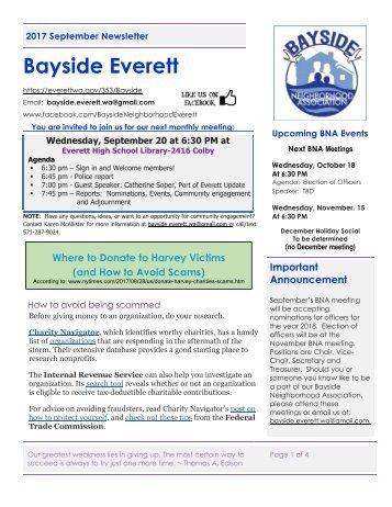 2017 September Bayside Newsletter
