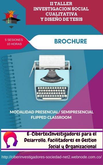 Brochure Taller de Investigacion Social Cualitativa y Diseño de Tesis