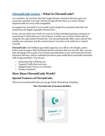 ChromiCode review-$26,800 bonus & discount