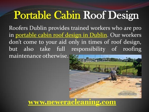 Portable Cabin Roof Design