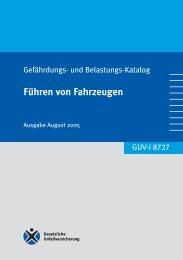 GUV-I 8711 Führen von Fahrzeugen  - Unfallkasse NRW