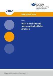 BGR/GUV-R 2102 - Deutsche Gesetzliche Unfallversicherung