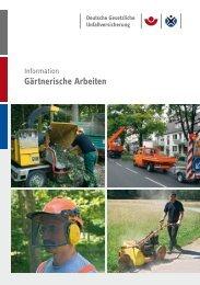 BGI/GUV-I 8610 Gärtnerische Arbeiten - Deutsche Gesetzliche ...