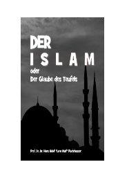 Der Islam - Glaube des Teufels