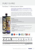 PURE110 Pro Technical Data Sheet - Page 3
