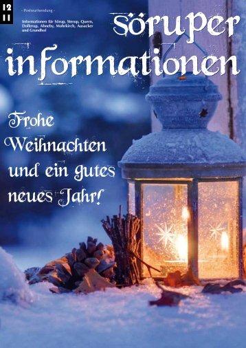 Frohe Weihnachten und ein gutes neues Jahr! - Söruper Informationen