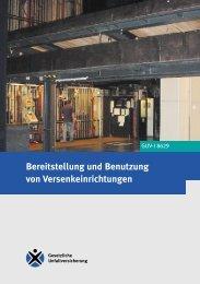 GUV-I 8629 - Regelwerk des Bundesverbandes der Unfallkassen