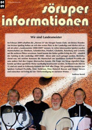 Wir sind Landesmeister - Söruper Informationen
