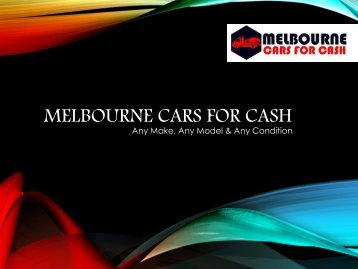Melbourne Cars for Cash