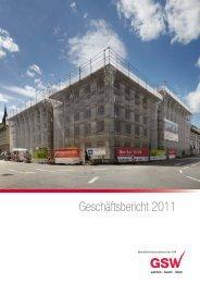 Geschäftsbericht 2011 - gsw sigmaringen