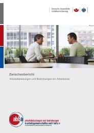 Zwischenbericht - Deutsche Gesetzliche Unfallversicherung