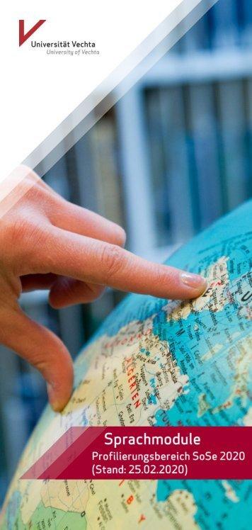 Sprachmodule Profilierungsbereich SoSe 2018