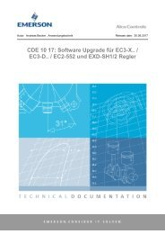 Software Upgrade für EC3_EC2_EXD-Regler