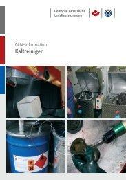 Kaltreiniger GUV-I 880 GUV-Information - Unfallkasse NRW