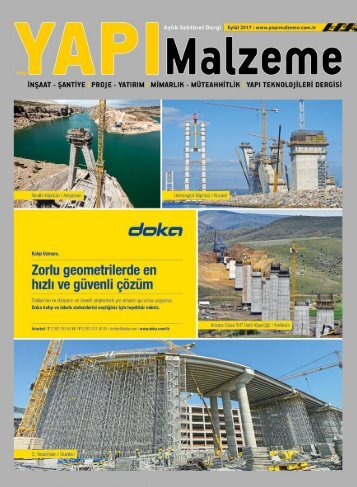 Yapı Malzeme Dergisi Eylül 2017 Sayısı