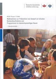 Maßnahmen zur Prävention von Gewalt an ... - Unfallkasse NRW
