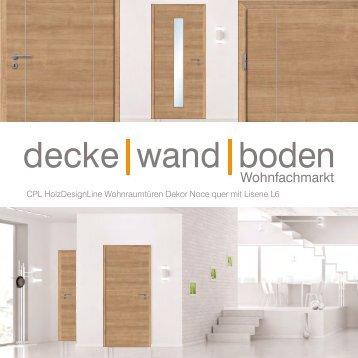 dwb Wohnraumtüren CPL Holz Design Line mit Lisene L6 Noce quer