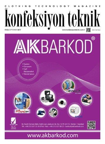 Konfeksiyon Teknik Dergisi Eylül 2017 Sayısı