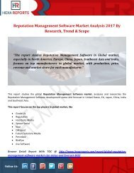 Reputation Management Software Market Analysis 2017 By Research, Trend & Scope
