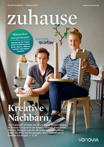 """Vonovia Kundenmagazin """"zuhause"""" Herbst 2017"""