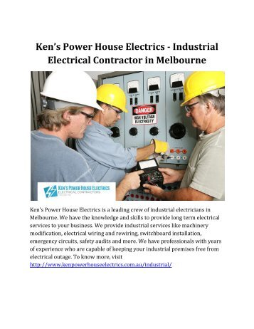 Ken's Power House Electrics - Industrial Electrical Contractor in Melbourne