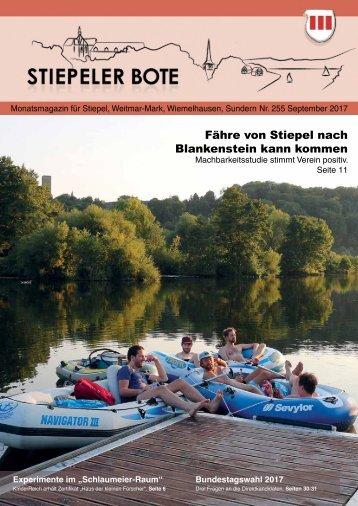 Stiepeler Bote Nr. 255 – September 2017