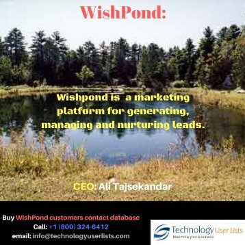 WishPond Users Email List