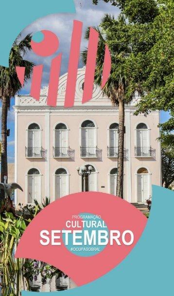 Programação Cultural #OCUPASOBRAL - Setembro 2017