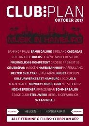 Clubplan Hamburg - Oktober 2017