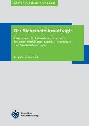 GUV-I 8503 - Regelwerk des Bundesverbandes der Unfallkassen