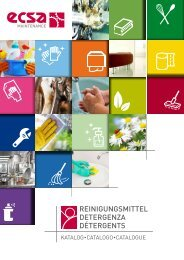 ECSA Maintenance - Catalogo detergenza - 2017