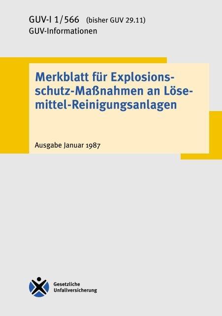 schutz-Maßnahmen an Löse- mittel ... - Unfallkasse NRW