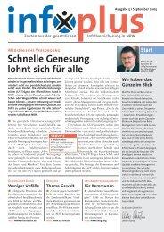Tel.: 0228 84900-241, E-Mail: infoplus@kompart ... - Unfallkasse NRW