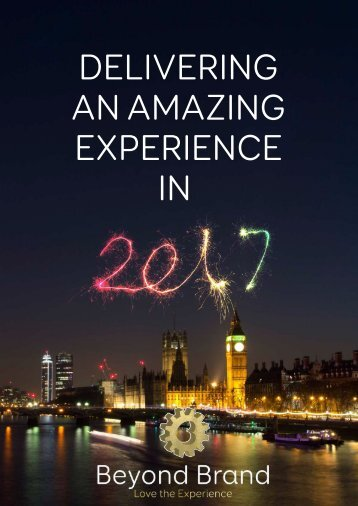 Deliver An Amazing Experience in 2017 Whitepaper