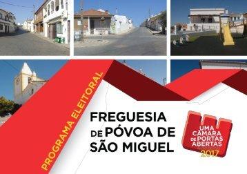 PS Autárquicas 2017 - Programa Freguesia Póvoa de São Miguel