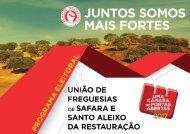 PS Autárquicas 2017 - Programa União de Freguesias de Safara e Santo Aleixo da Restauração