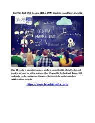 Get The Best Web Design, SEO & SMM Services from Blue 16 Media