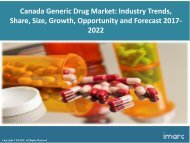 Canada Generic Drug Market Share, Size Trends and Forecast 2017-2022