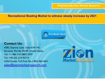 Global Recreational Boating Market, 2015 – 2021