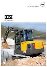 Volvo Minibagger EC55C - Datenblatt / Produktbeschreibung
