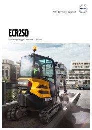 Volvo Minibagger ECR25D - Datenblatt / Produktbeschreibung