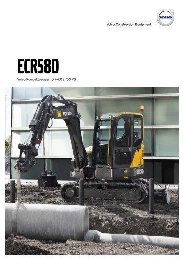 Volvo Minibagger ECR58D - Datenblatt / Produktbeschreibung
