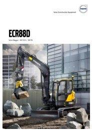 Volvo Minibagger ECR88D - Datenblatt / Produktbeschreibung