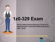 Latest ORACLE 1Z0-329 Exam Study Guide - ORACLE 1Z0-329 Questions Answers RealExamDumps