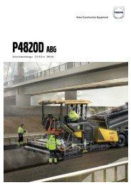 Volvo Kettenfertiger P4820D - Datenblatt / Produktbeschreibung