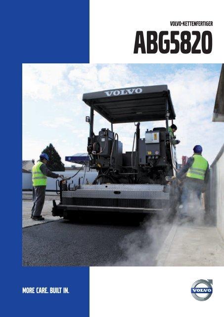 Volvo Kettenfertiger ABG5820 - Datenblatt / Produktbeschreibung