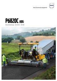 Volvo Kettenfertiger P6820C - Datenblatt / Produktbeschreibung