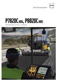 Volvo Kettenfertiger P7820C-P8820C- Datenblatt / Produktbeschreibung